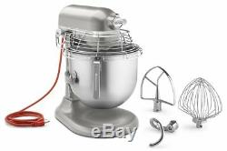 KitchenAid KSMC895NP Bowl Guard Commercial Mixer 8 Qt NSF 1.3HP Nickel Pearl