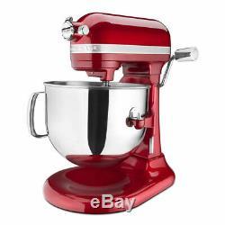 KitchenAid Pro Line 7 Qt Bowl-Lift Stand Mixer Red KSM7586P Candy Apple