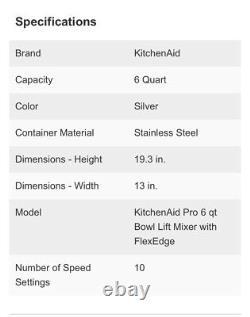 KitchenAid Professional 600 Series 6-qt Bowl-Lift Stand Mixer, Silver