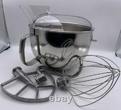 KitchenAid Stainless Steel Bowl Handle Stand Lift Mixer 6 Qt With Attachments NEW