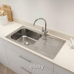 Kohler Ease Inset Stainless Steel Kitchen Sink Single Bowl Waste 950 x 500mm