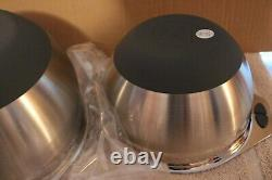 L 5831 Princess House Culinario Series 2 Mixing Bowls Stainless Steel New in box