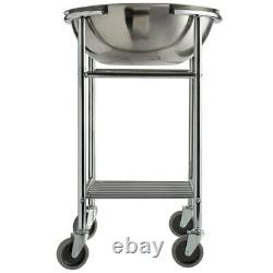 Large 30 Qt Stainless Steel Restaurant Mixing Bowl & Stand Heavy Duty Commercial