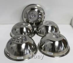 Lot of 5 Cole-Parmer, Vollrath 07300-13, 69130 Stainless Steel Mixing Bowl, 13QT