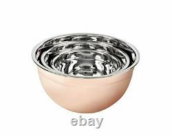 MIU France copperplatted mixing bowl set 10.5 x 5 Copper Stainless Steel