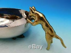 Michael Aram Stainless Steel and Gold Cat & Mouse Dish (7.5L x 4.25W x 2.5H)