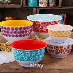 Mixing Bowls Set with Lids Stainless Steel Set of 10 Piece Vintage Kitchen Home