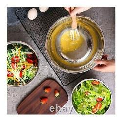 Mixing Bowls with Airtight Lids, 20 pieces Stainless Steel Metal + Tools