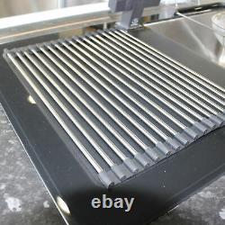Modern Stainless Steel Black Reflection Glass Kitchen Sink 1.5 Bowl LHD Drainer