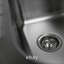 Modern Stainless Steel Kitchen Sink Single Bowl 1000 x 500mm Reversible Drainer