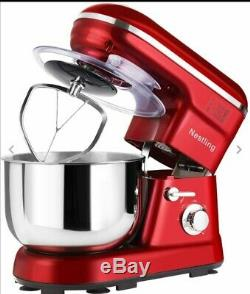 Nestling 1200W Food Stand Mixer 5L Mixing Bowl 5 Speeds + Accessories Red New