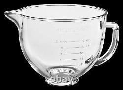 New KitchenAid 5-Quart Glass Bowl With Lid K5GB Fits Tilt Artisan Models