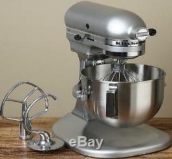 New KitchenAid Stand Mixer Metal Silver Metalic 4.5-Qt Stainless Steel Lift Bowl