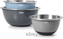 OXO Good Grips 3 Piece Stainless Steel Mixing Bowl Set