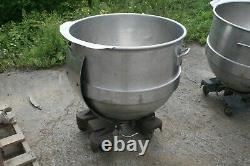 Portable Tilting Stainless Steel Large Mixing Bowl on Wheels 32 1/2 x 26 1/2