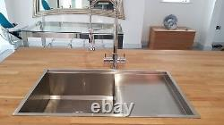 Premium Handmade Brushed Stainless Steel Kitchen Sink Single Bowl with Drainer
