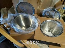 Princess House Culinario Series Stainless Steel 2 Mixing Bowls 5831 FREESHIPPING