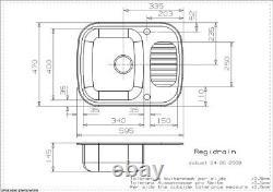 Reginox Regidrain Inset Kitchen Sink Stainless Steel 1 Bowl Reversible Drainer