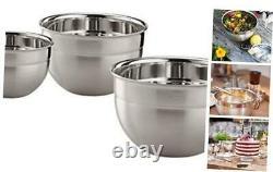Rosle 3 Piece Stainless Steel Mixing/Prep Bowl 3 Piece (1.7qt, 3.3qt, 5.7qt)