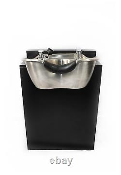 Round-Polished-Stainless-Steel-Shampoo-Bowl-Cabinet-Beauty-Salon-TLC-1368-FC