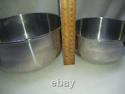 Saladmaster TP304s Surgical Stainless Nesting Mixing Bowl Set Storage Container