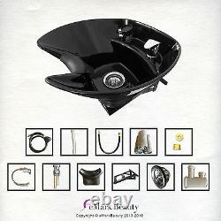 Salon Shampoo Tilt Bowl Sink Wall Mounted Reclining Shampoo Chair TLC-B36WT-216