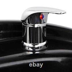 Shampoo Bowl Hair Sink with Gel Neck Rest Trap Vacuum Breaker Barber Salon Spa