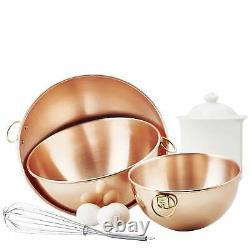 Solid Copper 3-piece Beating Bowl Set Copper