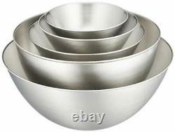 Sori Yanagi Stainless Bowl 5 pieces Set Full 13.16.19.23.27cm Made in Japan