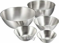 Sori Yanagi Stainless stainless bowl 5 pcs made in Japan