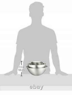 Sori Yanagi stainless bowl 5 pcs (13 16 19 23 27cm) w tracking free shipping