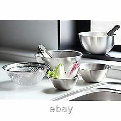 Sori Yanagi stainless bowl punchingstrainâer (16.19.23) 6pcs