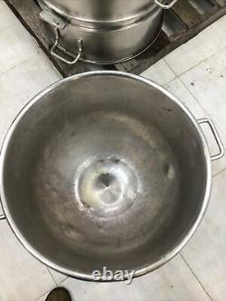Stainless-Steel Mixing Bowl, Hobart 80qt. Mixer VML-80 Lot Of 12