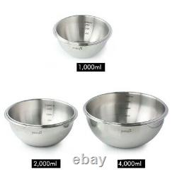 Stainless Steel Mixing Bowls Multipurpose with One Touch Airtight Lids, Set of 3