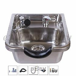 Stainless Steel Shampoo Bowl Hair Salon Spa Beauty Equipment Brushed TLC-1167