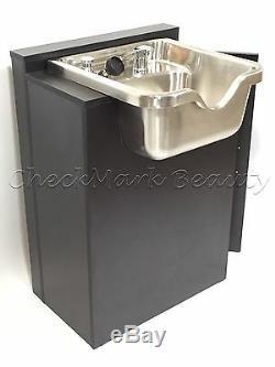 Stainless Steel Shampoo Bowl Sink Cabinet Salon Equipment TLC-1167-FC