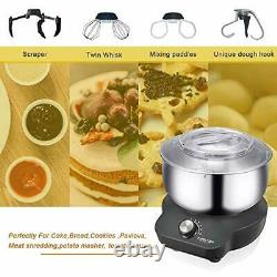 Stand Mixer Food Mixers, with 5QT Mixing Bowl for Bread and Dough, Electric