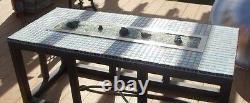 TB26K DIY Fire Pit Kit 26 Long Fire Table/ Trough Burner w Mounting Kit SS316