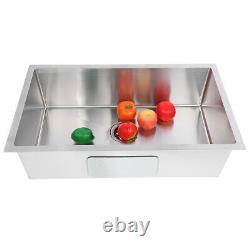 Undermount Single Bowl Kitchen Sink 304 Stainless Steel Topmount Kitchen Sink
