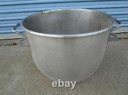 Used Stainless Steel 60 qt. Mixing Bowl for Hobart Mixers H600