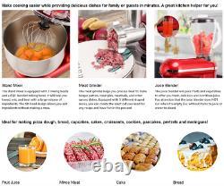 VIVOHOME 3In1 Stand Mixer Stainless Steel Bowl Meat Grinder Blender 6QT Sliver