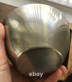 Vintage Mid Century Stelton Stainless Nesting Bowls 4 Denmark Holmblad Jacobsen
