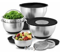 Wolfgang Puck Stainless Steel 12-Piece Mixing Bowl & Prep Set NEW IN BOX! FAST