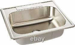 ZUHNE Drop-In Stainless Steel Single Bowl Kitchen, Bar and Laundry Utility Sink