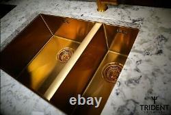 1.5 Évier De Cuisine En Or Acier Inoxydable Super Deep 1.5 Bowl Elite Premium