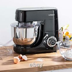 1500w Food Stand Mixer 6 Niveau Variable Vitesse 6l Acier Inoxydable Mixing Bowl Wit