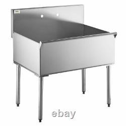 16gauge 36 Commercial Kitchen Utility Sink Acier Inoxydable 36 X 24 X 14 Bol