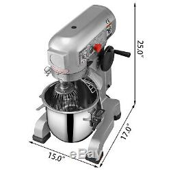 20qt 1hp Cuisine Électrique Avec Alimentation Batteur Sur Socle 3 Vitesses En Acier Inoxydable Bowl