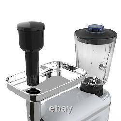 3 En 1 Stand Mixer Tilt-head Avec 7qt Bowl 6 Speed 850w Meat Grinder Blender Argent