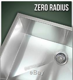 30 Cuve Simple Undermount Calibre 16 304 En Acier Inoxydable Évier Rayon Zéro